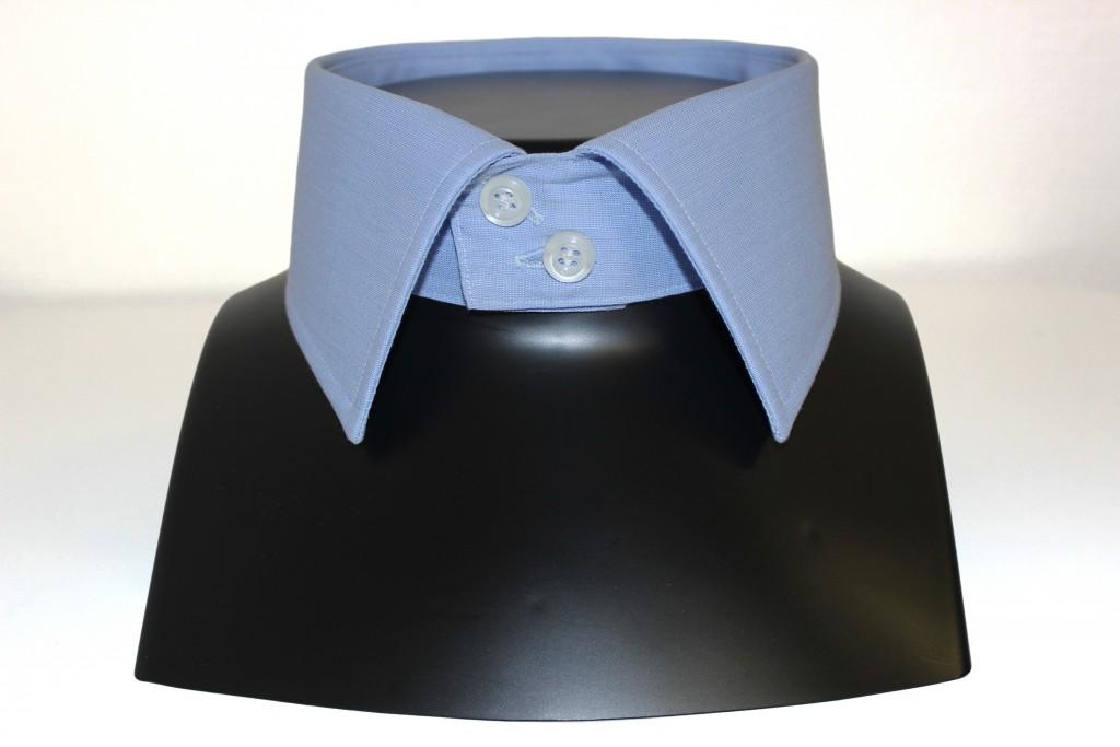 Chemise grand col italien 2 bouton, chemise sur mesure luxe, boutique chemise sur mesure, Clotilde Ranno