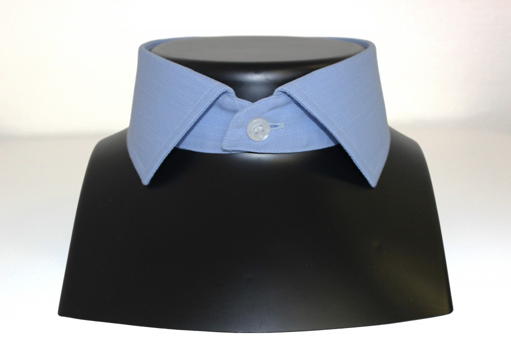 Chemise col italien semi-ouvert, chemise col semi cutaway, Clotilde Ranno, chemises sur mesure