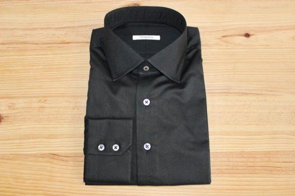 chemise noire stretch , chemise noire