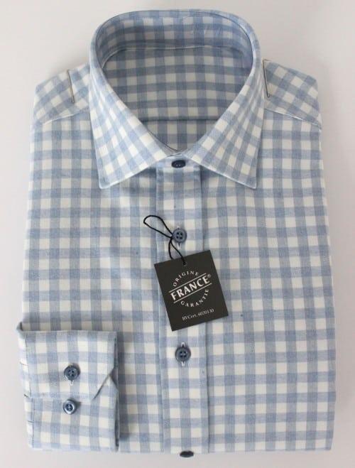 Chemise à carreaux homme, chemise homme, Chemise à carreaux, chemise sur mesure, chemise hiver, chemise tissu épais, chemise carreaux bleus