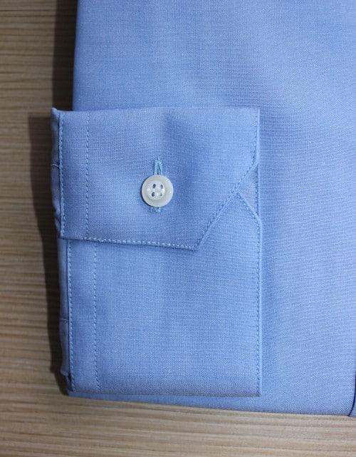 chemise coton homme, Chemise homme, achat chemise, chemise sur mesure, chemise bleue, chemise mini col, chemise col mini, chemise poignet simple