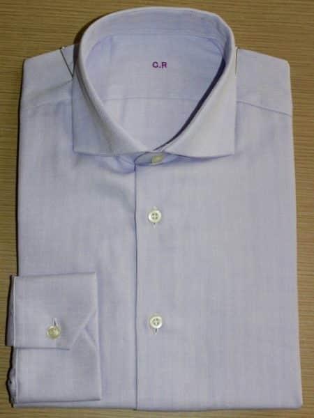 chemise homme, chemise unie, chemise motif à chevrons, chemise en coton, chemise poingets simples, chemise gorge caché, chemise bas liquette, chemise col rigide, chemise sans baleines,