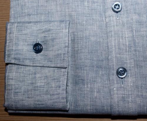 belles chemises sur mesure, chemise femme, chemise en lin, chemise col italien, chemise poignet simple, chemise coupe droite, chemise gorge surpiqué, chemise bas piquette, chemise manches longues