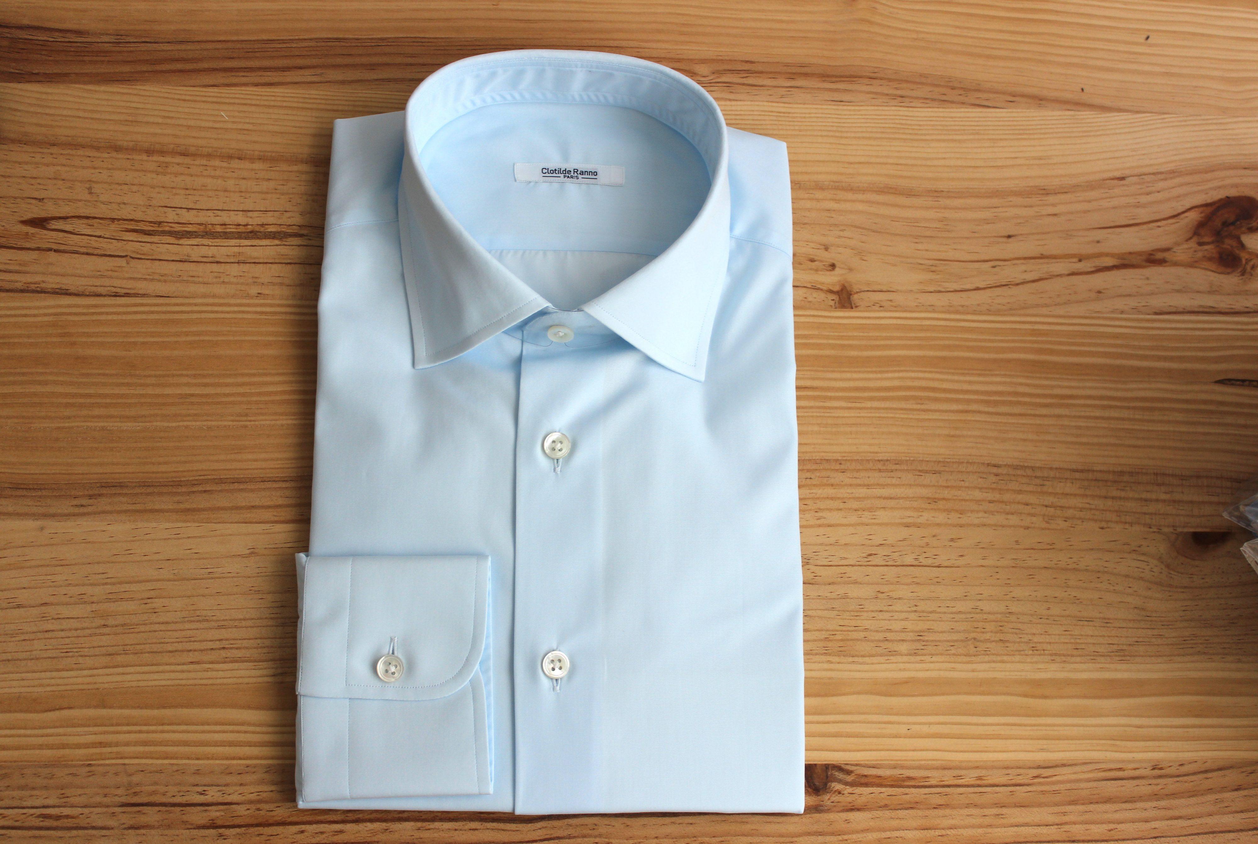 chemise infroissable sur mesure , chemise infroissable