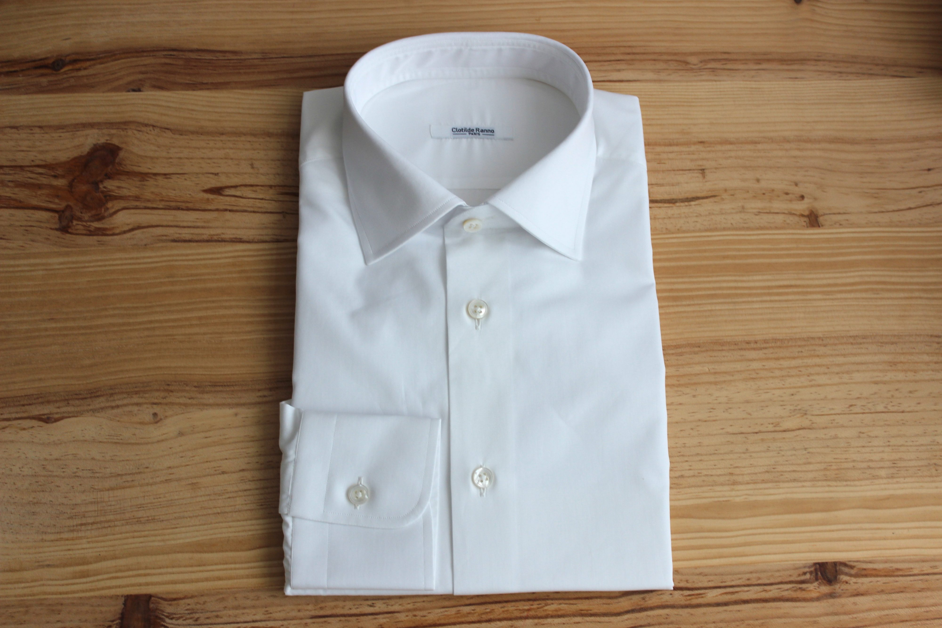 chemise sans repassage sur mesure blanche , chemise sans repassage , chemise blanche