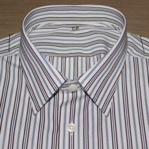 chemises rayées, chemise bas liquette, chemise cintrée, chemise col classique, chemise coton, chemise homme, Chemise made in France, chemise manches longues, chemise poignets simples, chemise rayée