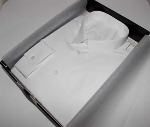chemise sur mesure luxe blanche, chemise sur mesure luxe , chemise blanche, chemise luxe, chemise col classique, chemise poignets simples, chemise ajustée, chemise en coton