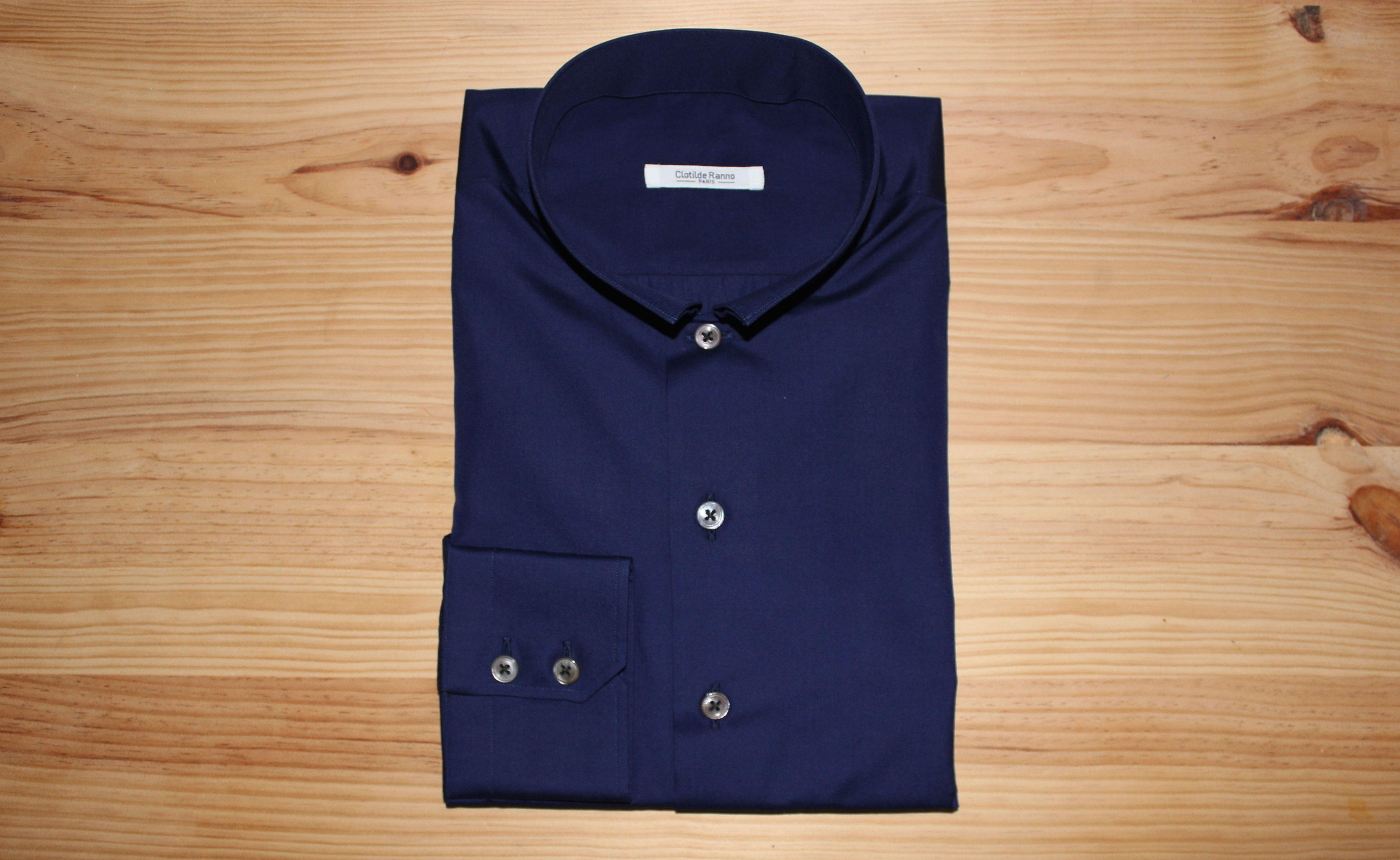 chemise sur mesure slim fit, chemise slim fit