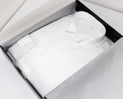 chemise col cassé, chemise blanche, chemise mariage, chemise homme, chemise col cassé, chemise gorge cachée, chemise plastron, Chemise easy iron, Chemise poignets mixtes