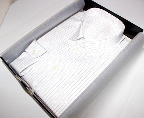 chemise luxe, chemise bas liquette, chemise blanche, chemise col classique, chemise homme, Chemise luxe, chemise poignets simples, chemise rayée, chemise sans gorge