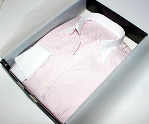 chemise à rayures, chemise col & poignets fantaisie, chemise col lady, chemise coton, chemise femme, chemise gorge surpiquée, chemise simple retors, chemise col blanc