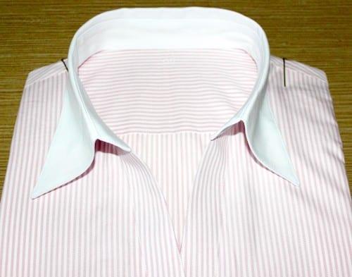 chemise à rayures, chemise col & poignets fantaisie, chemise col lady, chemise coton, chemise femme, chemise gorge surpiquée, chemise simple retors