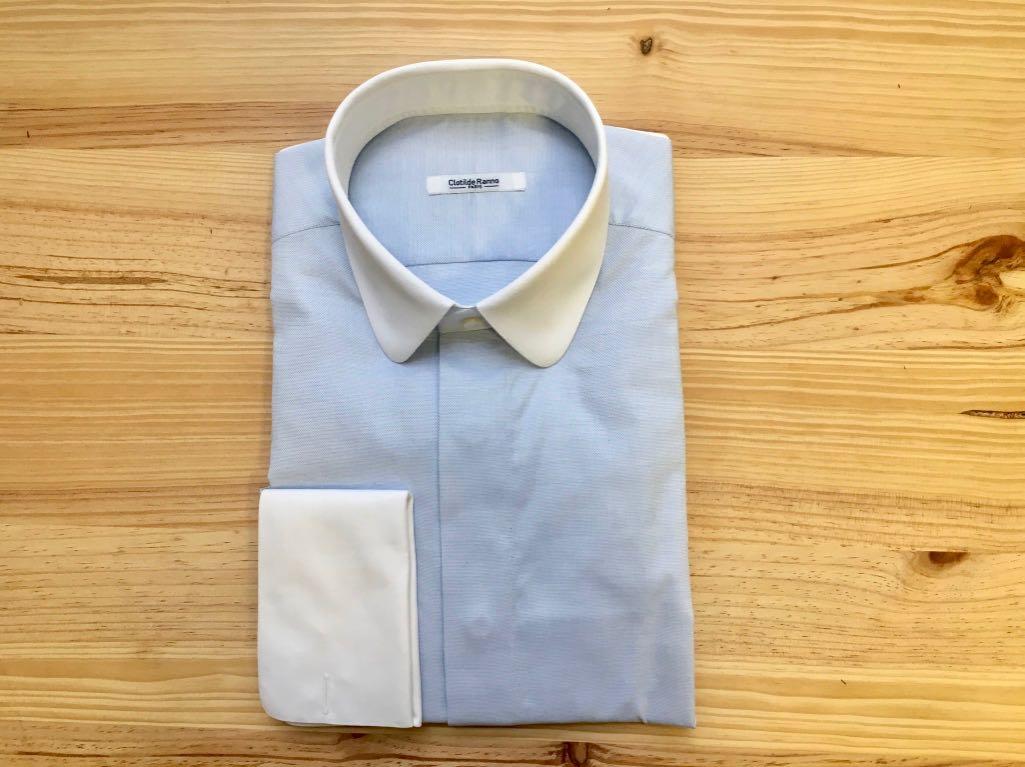 chemise col blanc sur mesure , chemise col blanc