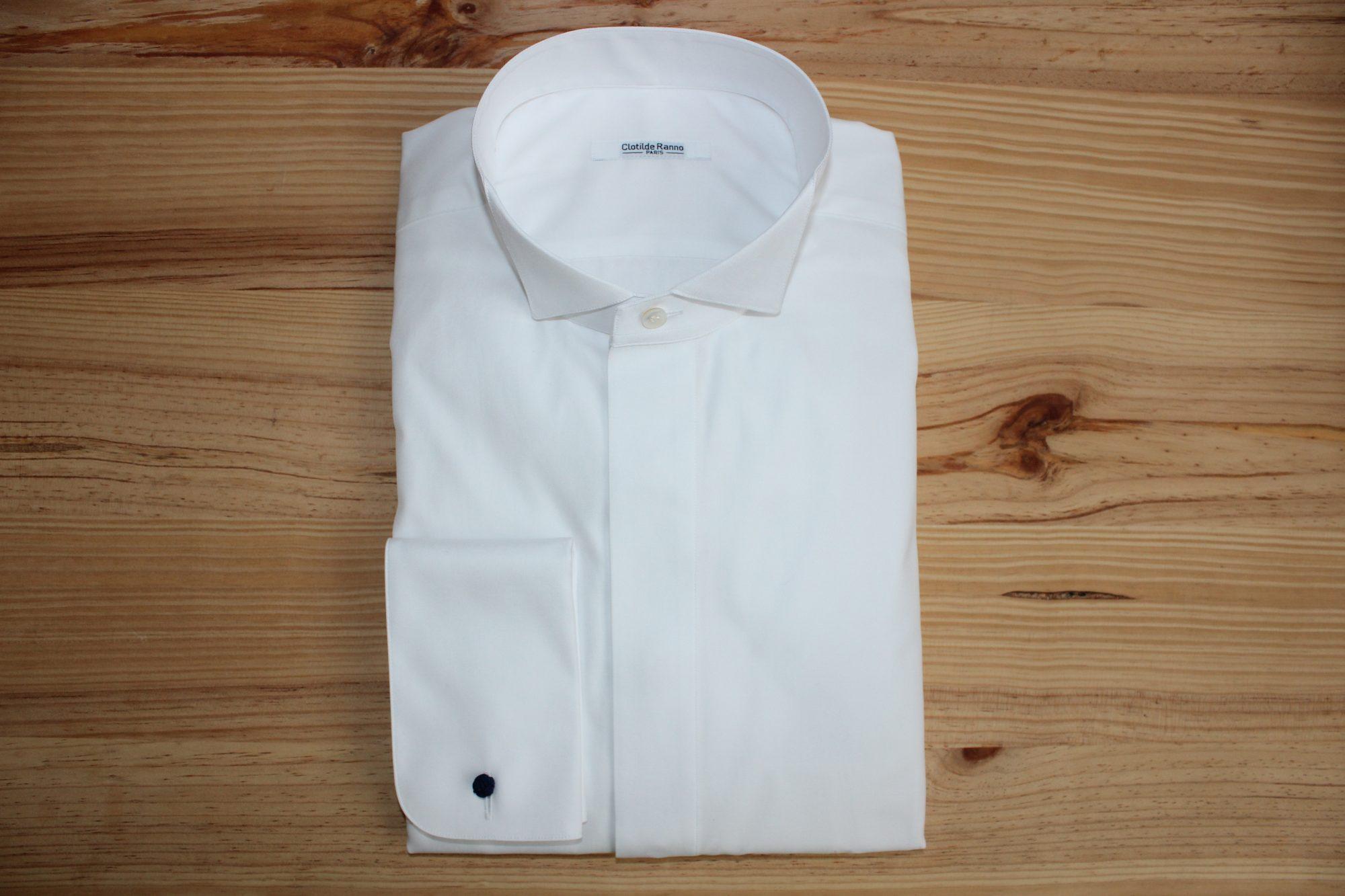 chemise col cassé sur mesure , chemise col cassé