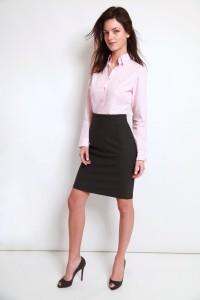chemisiers cintrés, chemise rose popeline, chemise bas droit, chemise col classique femme, Chemise easy iron, chemise femme, chemise rose, chemise sans gorge, chemise sans poignet