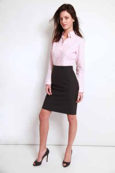 chemise rose popeline, chemise bas droit, chemise col classique femme, Chemise easy iron, chemise femme, chemise rose, chemise sans gorge, chemise sans poignet