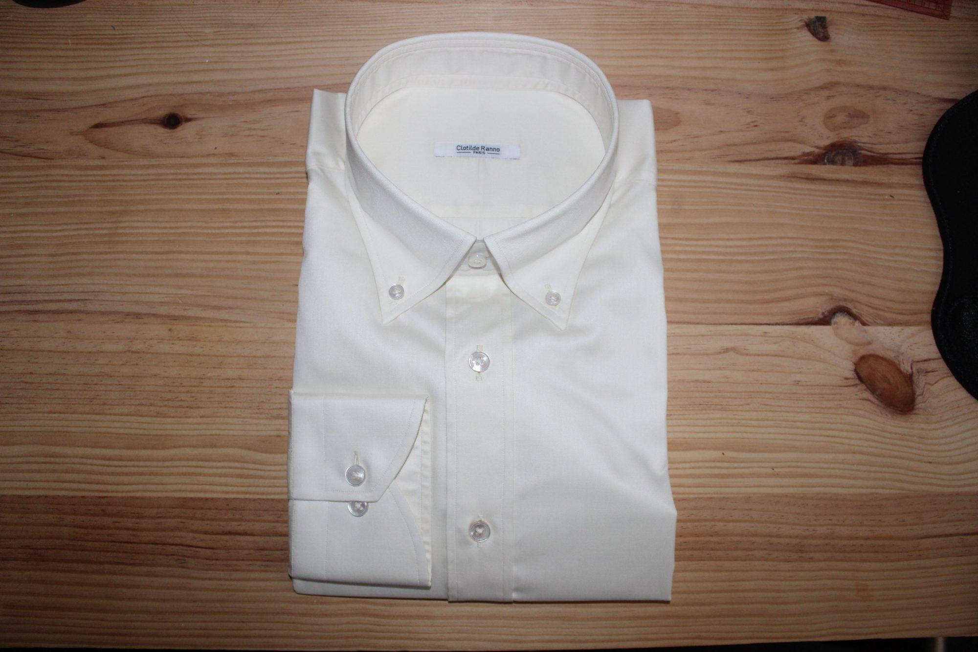 chemise blanche non iron sur mesure , chemise blanche non iron , chemise blanche
