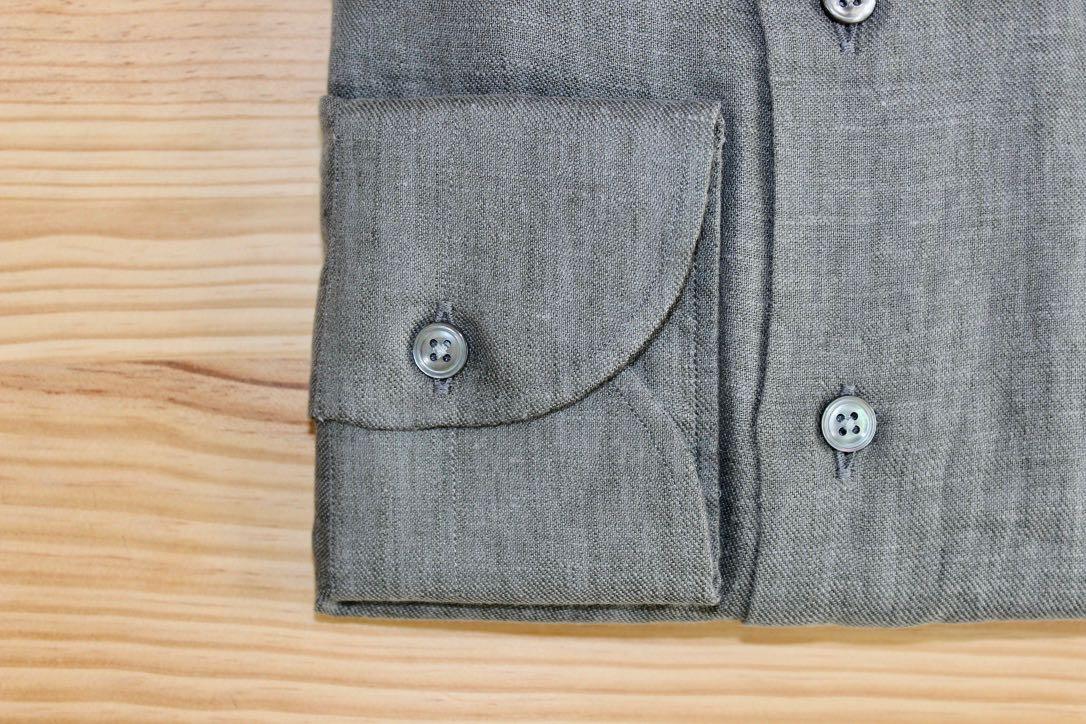 chemise grise sur mesure , chemise grise