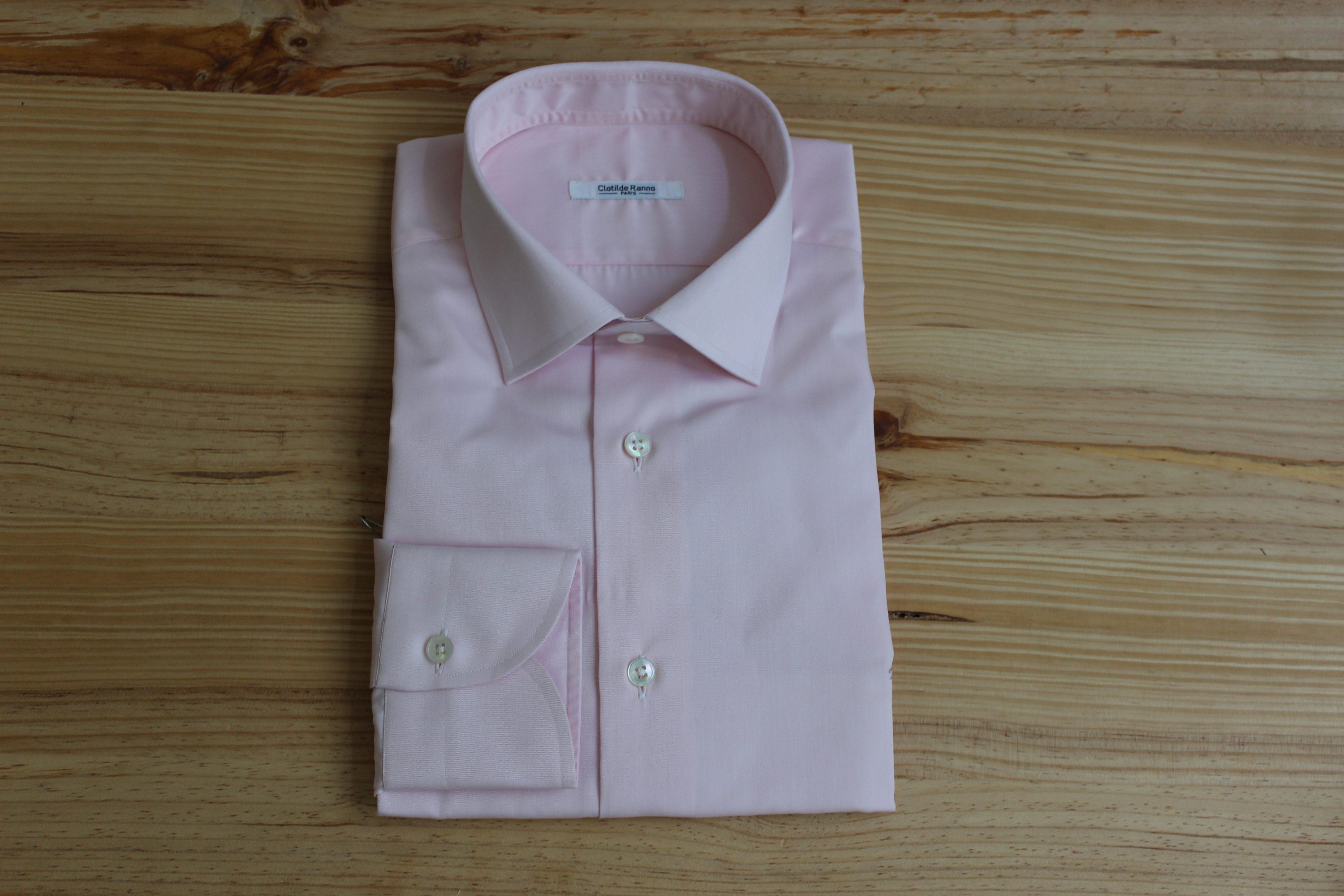 chemise rose non iron sur mesure , chemise rose non iron , chemise rose sur mesure