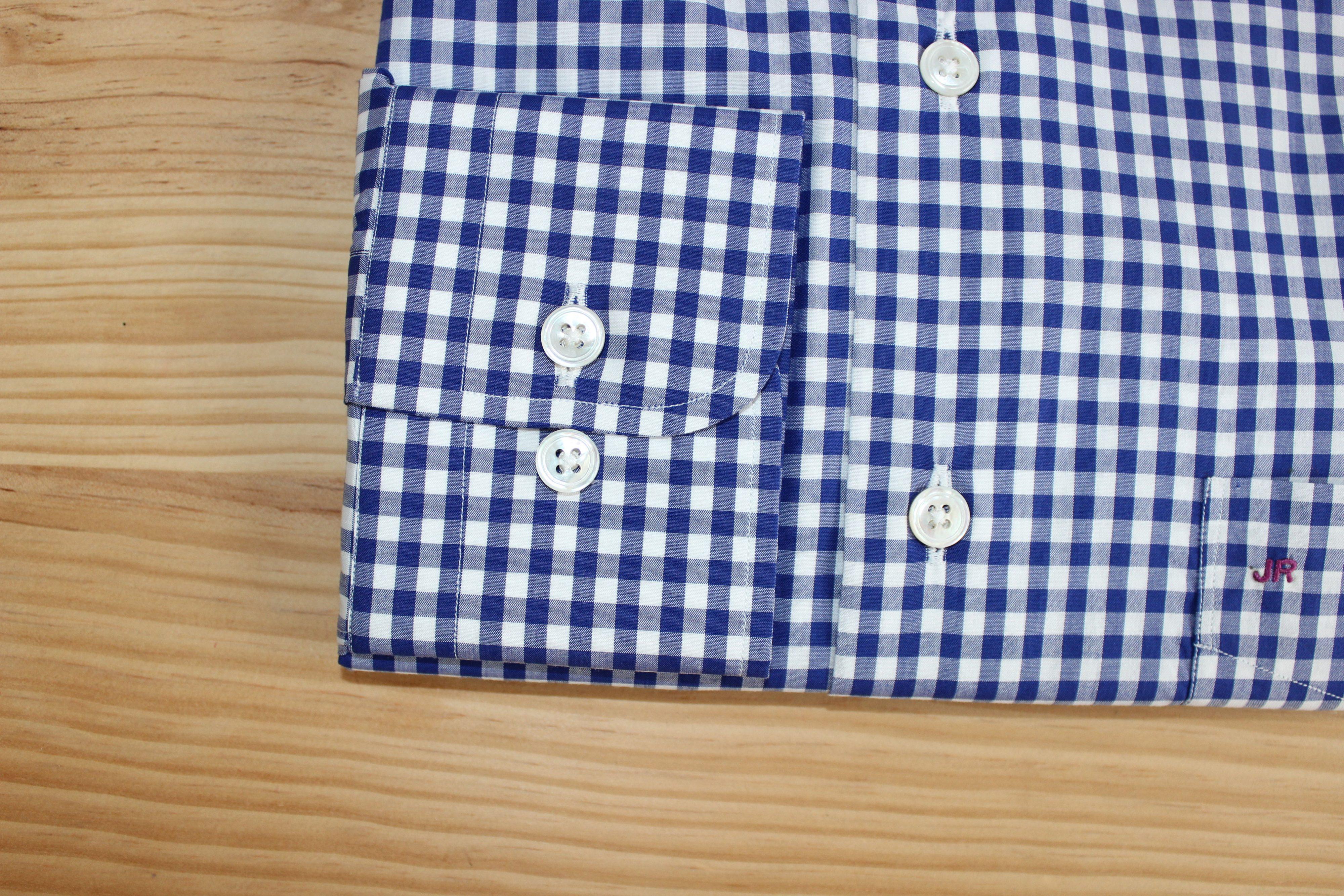 chemise sur mesure à carreaux , chemise à carreaux