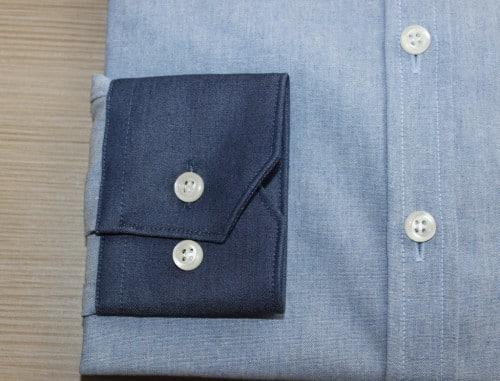 chemise boutonné, chemise femme, chemise en coton, chemise col et poignet en opposition, chemise col boutonné, chemise poignets ajustables, chemise coupe droite, chemise gorge surpiquée, chemise simple retors, chemise bas liquette