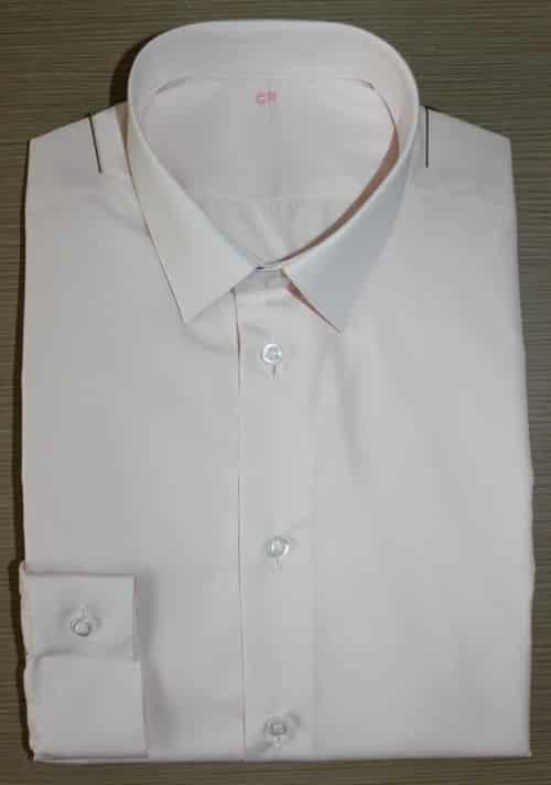 Chemise rose non iron, chemise bas liquette, chemise homme, Chemise mini-col, chemise rose, chemise sans gorge, chemise petit poignet, chemise non iron, chemise en coton