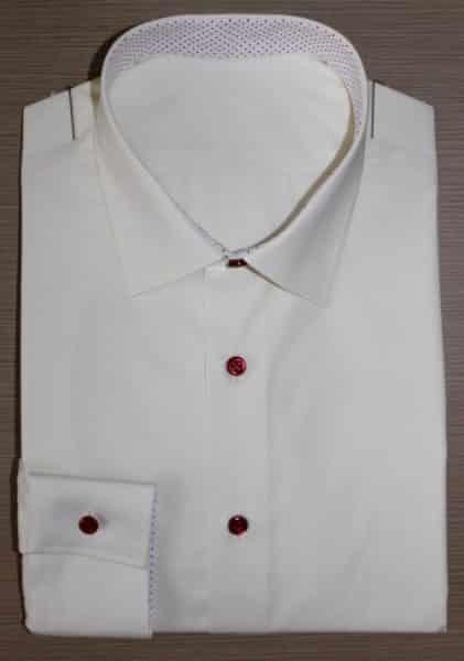 Chemise blanche non iron, Chemise à motifs, chemise blanche, chemise non iron, chemise col italien, Chemise poignets mixtes, chemise sans gorge, chemise bas liquette, chemise simple retors, chemise en coton