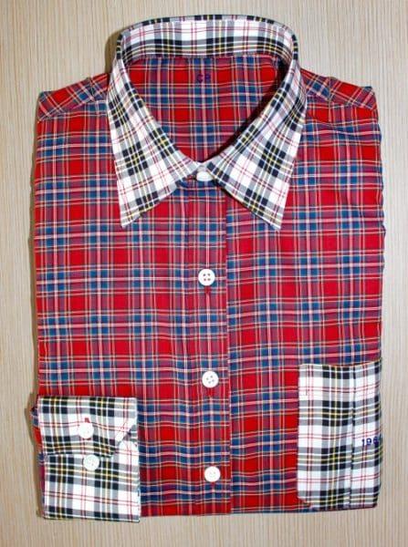 chemise à carreaux , chemise à carreaux, chemise bas liquette, chemise col classique, chemise coton égyptien, chemise coupe droite, chemise femme, chemise gorge surpiquée, chemise thomas mason