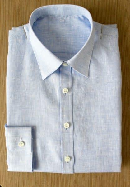 chemise en lin , chemise femme, chemise en lin, chemise petit poignet, chemise petit col classique, chemise coupe droite, chemise gorge surpiquée, chemise simple retors, chemise bas liquette