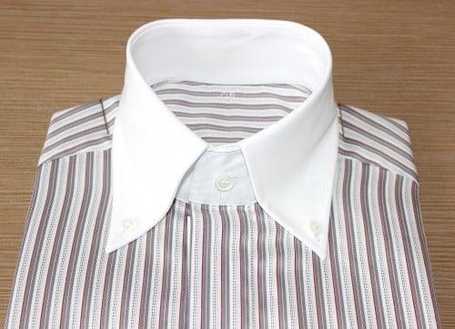 chemise sur mesure poignets mousquetaires, chemise à rayures, chemise sur mesure poignets mousquetaires, chemise col aldo, chemise col et poignet en opposition, chemise homme, Chemise poignets mousquetaire, chemise bas liquette