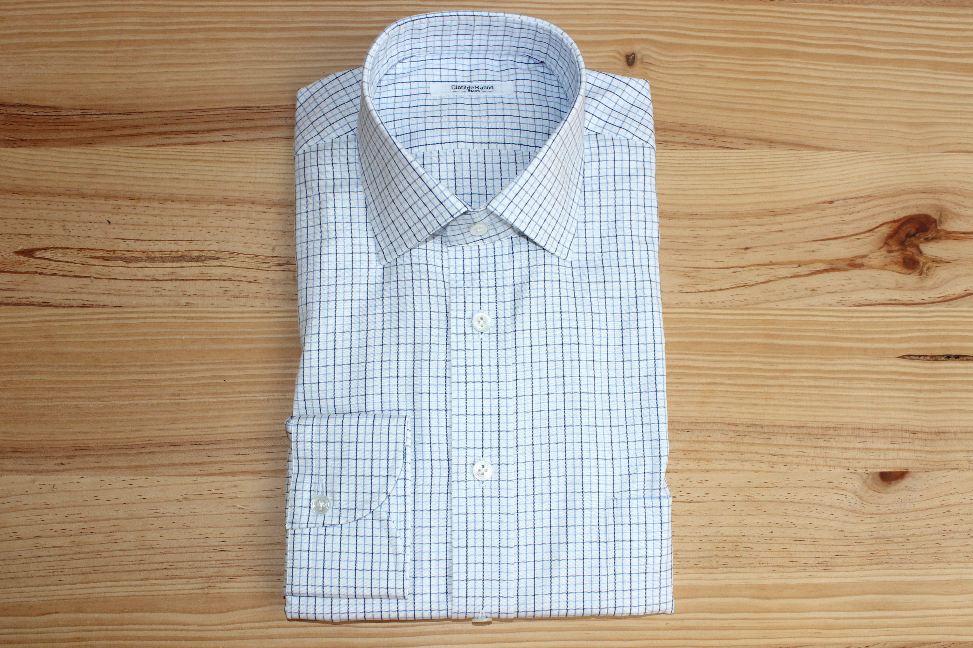 chemise à carreaux sur mesure , chemise à carreaux , chemise sur mesure