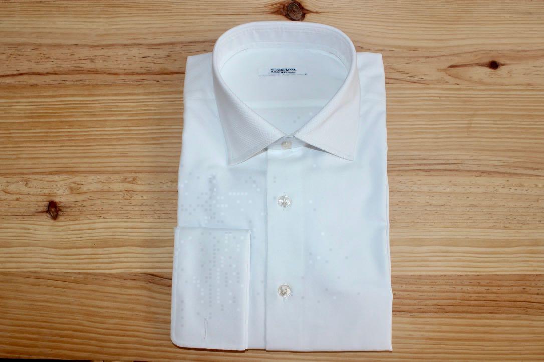 chemise blanche sur mesure , chemise blanche