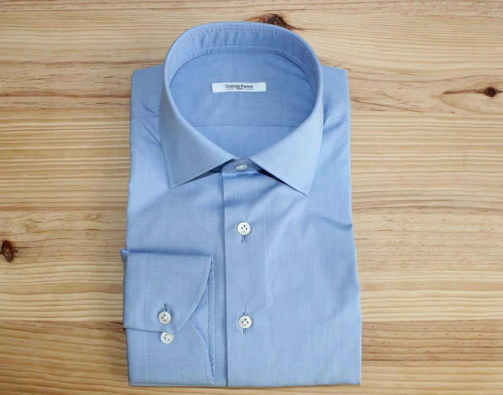 chemise homme bleue