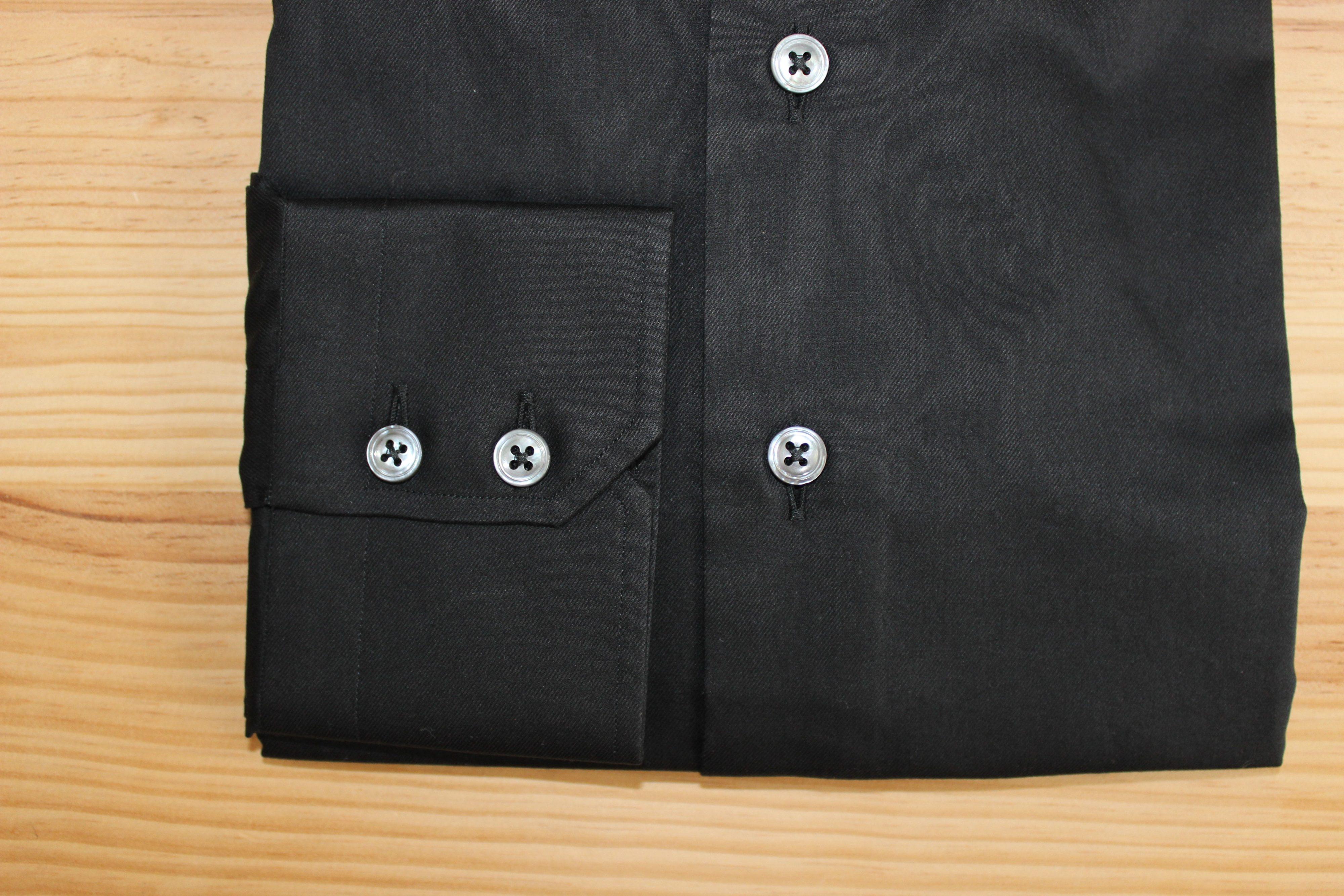 chemise homme noire sur mesure , chemise homme noire