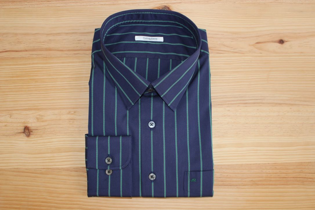 chemise rayée coton égyptien sur mesure , chemise rayée , chemise rayée sur mesure