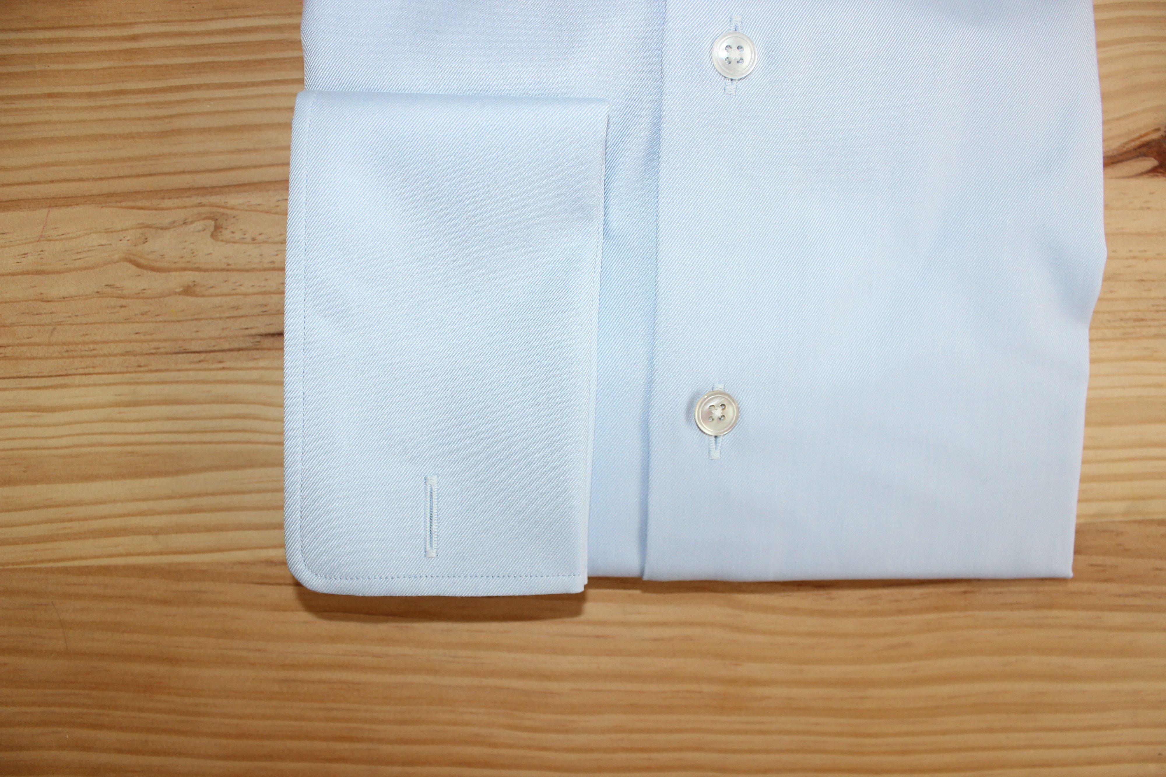 chemise sur mesure poignets mousquetaires , chemise poignets mousquetaires