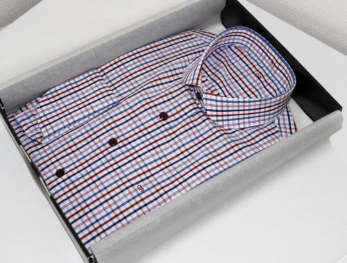 chemise bespoke, robe-chemise made in france, robe chemise, chemise rayée, chemise en coton, chemise simple retors,chemise bas liquette, chemise sans gorge, chemise col rond, chemise poignets napolitain