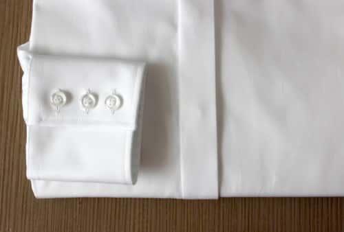 chemise blanche coton égyptien, chemise blanche, Chemise col italien, chemise coton égyptien, chemise femme, chemise gorge cachée, chemise poignets à 3 boutons, chemise bas liquette, chemise coupe droite