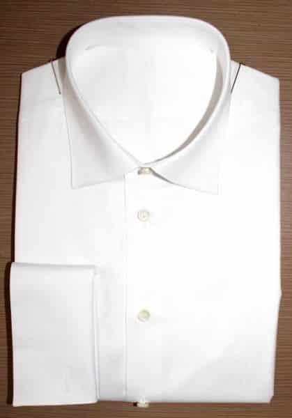 chemise blanche homme , chemise blanche, Chemise col italien, chemise coton, chemise double retors, chemise homme, Chemise luxe, Chemise poignets mousquetaire, chemise bas liquette , chemise gorge double repli