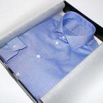 chemise bleue tissu égyptien , chemise bas liquette, chemise bleue, chemise col italien ouvert, chemise coton égyptien, chemise double retors, chemise homme, Chemise luxe, chemise poignets simples