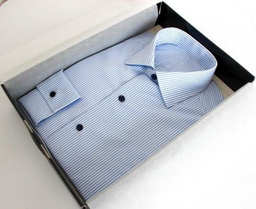 chemise business rayée ,chemise business, chemise homme, chemise rayée, chemise col italien, chemise bas liquette, chemise simple retors, chemise coton, Chemise poignets mixtes, chemise sans gorge