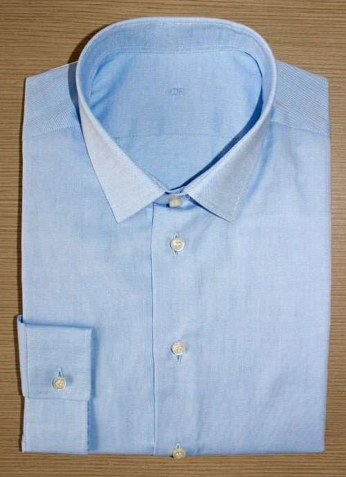chemise mini col ,chemise bas droit, chemise bleue, chemise business, chemise homme, Chemise mini-col, chemise petit poignet, chemise sans gorge, chemise coton