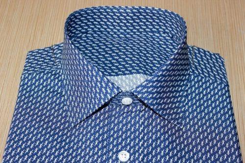 chemise moderne , Chemise col italien, chemise coton égyptien, chemise fantaisie, chemise homme, Chemise luxe, chemise thomas mason, Chemise poignets mixtes, chemise simple retors