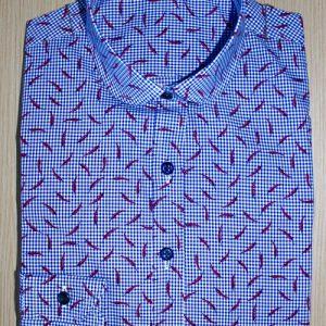 chemise sur mesure coton égyptien , chemise femme, chemise coupe droite, chemise thomas mason, chemise coton égyptien, chemise simple retors, chemise col rond, chemise poignets simples, chemise gorge surpiquée