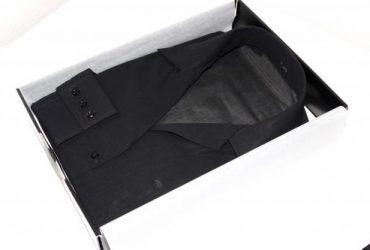 Robe chemise noire  voile suisse sur mesure Capri