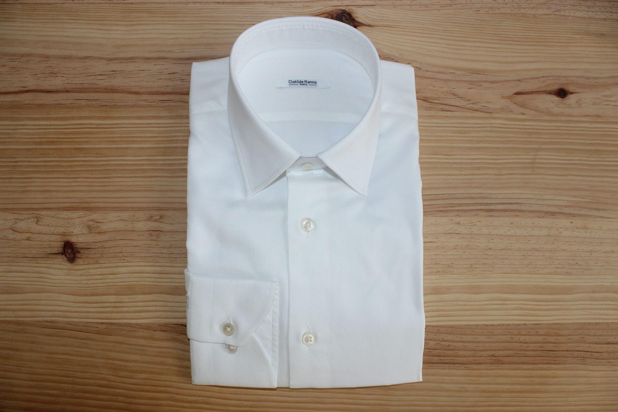 chemise blanche coton égyptien sur mesure , chemise blanche coton égyptien , chemise blanche sur mesure