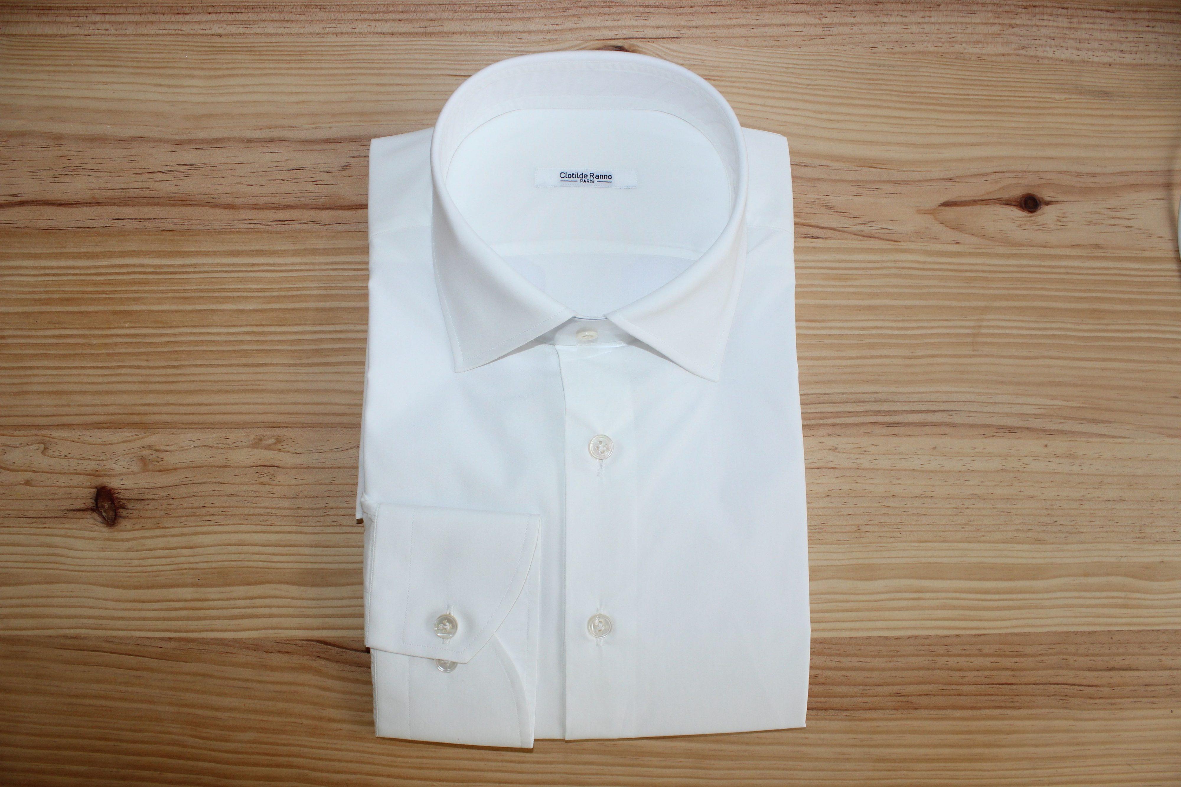 chemise homme blanche , chemise blanche sur mesure