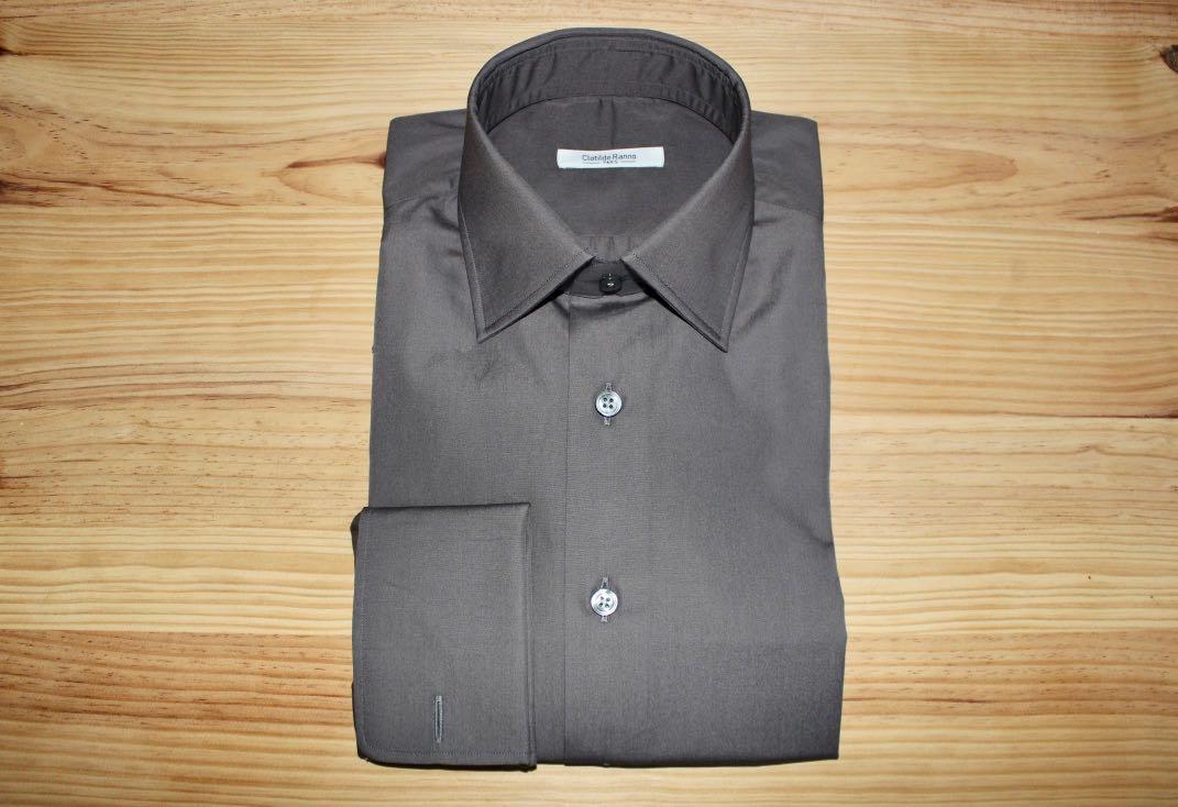 chemise noire non iron sur mesure , chemise noir non iron