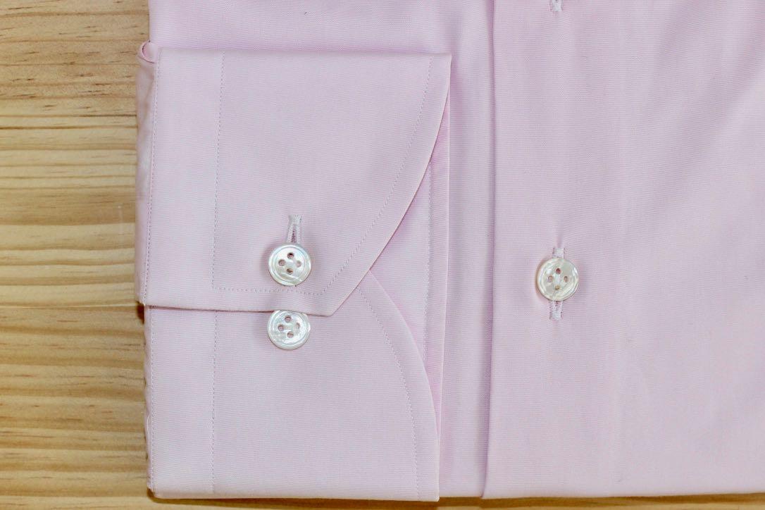 chemise sur mesure rose , chemise rose