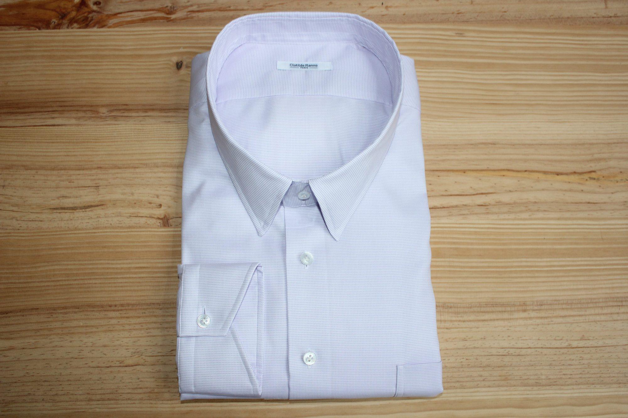 chemise sur mesure violette , chemise violette , chemise sur mesure